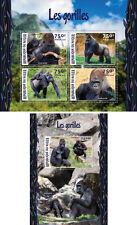 Gorillas Monkeys Primates Apes Animals Fauna Niger MNH stamp set 2 sheets