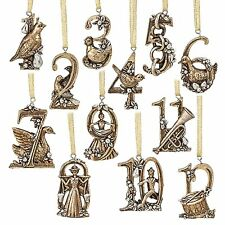 12 Days of Christmas Tree Ornament Set Twelve Figural Hanging Ornaments New