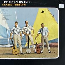 "THE KINGSTON TRIO HAND SIGNED AUTOGRAPH PHOTO W/ LP ALBUM - ""SCARLET RIBBINS"""