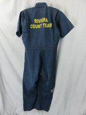 Riviera Casino & Hotel Count Team Ss Jumpsuit Size 46 Reg Coverall Speedsuit