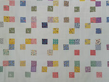 "Unfinished Quilt Top  -Squares and Lines Design with 2"" blocks, approx 71.5 x 79"