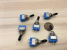 6 pcs Black sleeve cap boot Toggle Switch SPST MTS-101 6mm 1/4 small on off b12