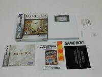 Riviera The Promised Land Nintendo Game Boy Advance Game Complete CIB