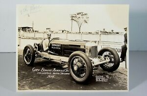 1929 INDIANAPOLIS 500 TYPE ONE PRESS / PROMOTIONAL PHOTOGRAPH - CLIFF BERGERE