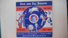 "Musette Record Jack& Jill Singers ALPHABET SONG No.3 Book & 7"" 78rpm 1942"