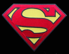 Superman Chest shield logo EMROIDERED IRON ON 5.25 INCH  PATCH