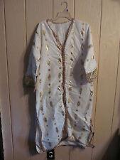 Ladies White & Gold  Princess Leia or Egyptain  Halloween Costume Size Large