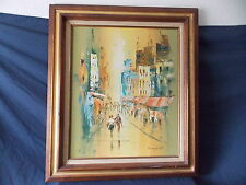 """BEAUTIFUL PAUL MURPHY """"CITY SCAPE"""" PAINTING ON CANVAS  VERY LARGE PIECE"""