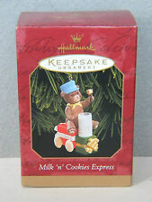 MILK 'N' COOKIES EXPRESS Train with Teddy Bear HALLMARK KEEPSAKE ORNAMENT 1999
