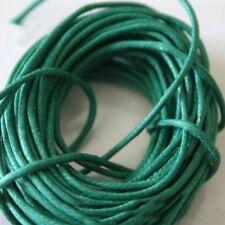 5 mètres de Fil Coton Ciré  Vert Émeraude   0,7 mm