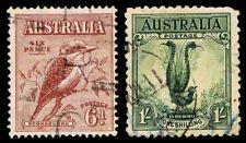 1932 Australia #139 & 141 - Kookaburra & Lyrebird - Used - Vf - $5.60 (Esp#2428)