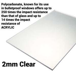 2mm Clear Perspex Sheet Screen Polycarbonate Solid Sheet Cut to Size