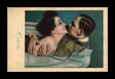 DR JIM STAMPS SOLDIER EMBRACING WOMAN RETURN TOPICAL ITALY POSTCARD