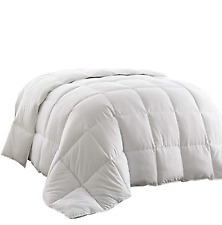 Goose Down Alternative Comforter White Blanket for King Size Bed