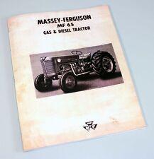 MASSEY FERGUSON MF-65 TRACTOR OWNERS OPERATORS MANUAL MAINTENANCE CARBURETOR