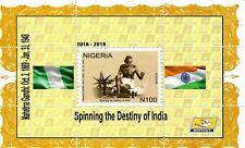 2019 Nigeria - Gandhi - 150th Birth Anniversary - Miniature Sheet - Perforated