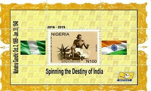 2019 Nigeria - Gandhi - 150th Birth Anniversary - Miniature Sheet - Perforated