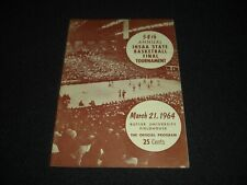54th IHSAA Indiana State Basketball Finals March 21 1964