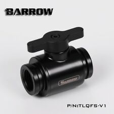Barrow PC Water Cooling G1/4 Mini Ball Valve Stop Shutoff Fitting Adapter