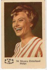 1950s Swedish Film Star Card Star Bilder C #94 Singer Actress Monica Zetterlund