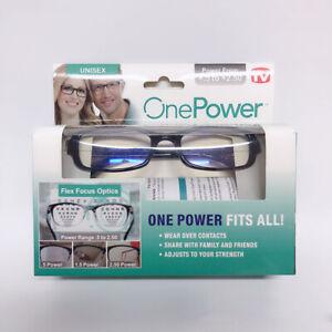 ONE Power READERS Power 5 To +2.50  Flex Focus Optics New In Box