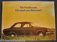 1969 Escort English Ford Sales Brochure Folder GT, Super Nice Original 69
