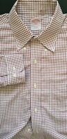 BROOKS BROTHERS 346 Men Classic Cotton Long Sleeve Polo Dress Shirt 16.5-34/35
