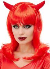 Red Devil Wig Adults Halloween Devils Costume Fancy Dress Accessory New