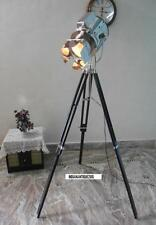 Model Antique Spotlight With Black Finish Tripod Stand Nickle Searchlight