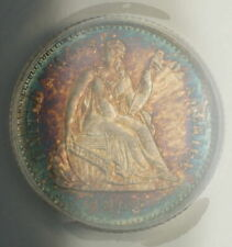 1862 Seated Liberty Silver Half Dime ANACS MS-62 (Very Choice Coin) Toned AA