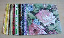 "AF0544 20 Pre-Cut Fabric 5"" Charm Squares Light Medium Prints Quilt Block"