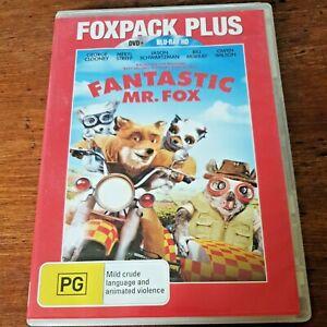 Fantastic Mr Fox George Clooney DVD + BLURAY R4 Like New! FREE POST