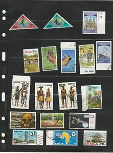 Kenya 1970s/1980s Commercially Used Commemorative and Definitive Selection