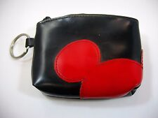 Vintage Disney Coin Purse Black Red Mickey Mouse Ears