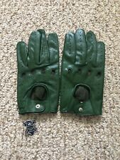 Men's Driving Green leather Gloves  Size X Large