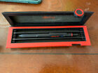 Rotring 600 Trio Matte Black Ballpoint Pen Blue Red & Pencil In Box Knurled New