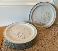 "Noritake Primastone WOODSTOCK  8 1/4"" Salad Plates Set of 7"