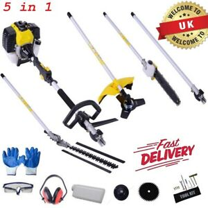 52cc Multi Function 5 in 1 Garden Tool BrushCutter,Grass Trimmer,Chainsaw,Hedge