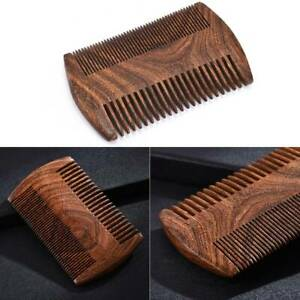 Green Sandalwood Pocket Beard Hair Comb Natural Wood Comb with Fine&Wide Tooth~