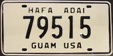 Original Nummernschild USA GUAM 1981 plaque d'immatriculation license plate