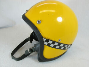 Vintage 1970's taxi cab yellow motorcycle snowmobile helmet