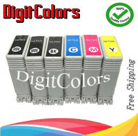 PFI-102 6 color Ink cartridges for use Canon imageprograf IPF 500/600/700/720