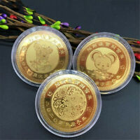 3X 2020 New Year Good Fortune Mouse Commemorative Coin Souvenir Collection Gift