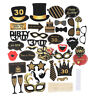 36pcs Birthday Party Frame Photo Booth Props Party Favor Decor 21/30/40/50/60th