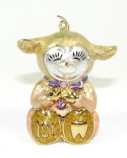 Welforth Fine Pewter Pink Sheep Keepsake 1st Tooth Box for Girl