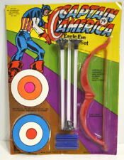 CAPTAIN AMERICA EAGLE EYE ARCHERY SET 1974 Larami MOC Unpunched
