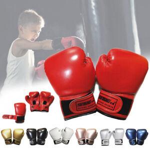 New Kids Boxing Gloves Junior Training Mitts Punch Bag Children Gel Pad Gloves