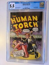 THE HUMAN TORCH # 29 TIMELY 1947 CGC 5.5 MURDER COVER