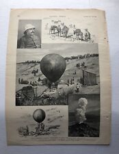 1891 Harpers Texas Weather Balloon Experiments Antique Print #21017
