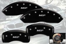 """2012-2017 BMW 320i Base F30 Front + Rear Black """"MGP"""" Brake Disc Caliper Covers"""